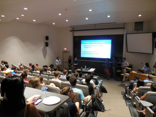 The Fall 2015 Interest Meeting was attended by about 80 students!